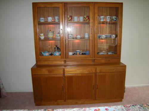 Rare solid teak dining cabinet denmark made with night for Furniture gig harbor