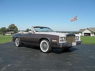 Rare Two Tone 1984 Cadillac Eldorado Convertible 38000 Miles For