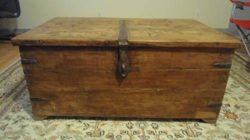 antique chest for sale RARE VINTAGE ANTIQUE TRUNK / CHEST 1800's? for Sale in Port O  antique chest for sale
