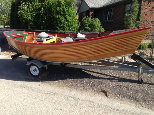 Rare Wooden Mckenzie Drift Boat 3500