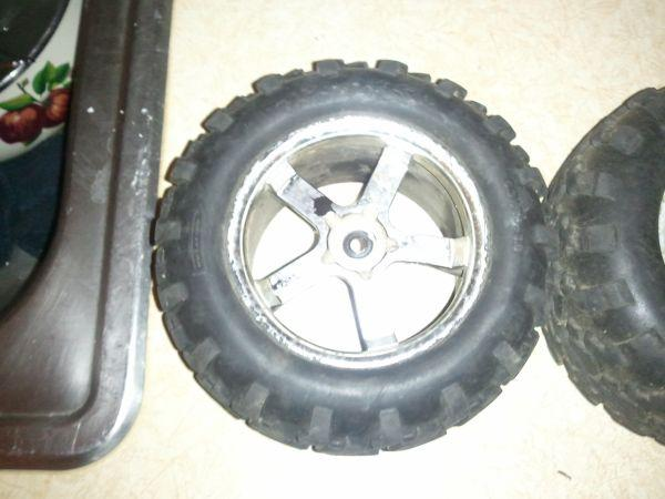 rc truck rims and tires - $65 rockford