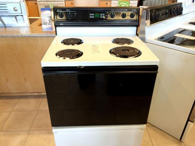 Rca Black White Coil Burner Range Stove Oven Used For
