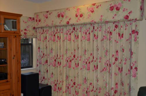 Ready Made Laura Ashley Custom Curtains Drapes W Cornice