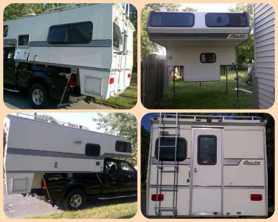 Real Lite Slide In Truck Camper Clean Very Good Look