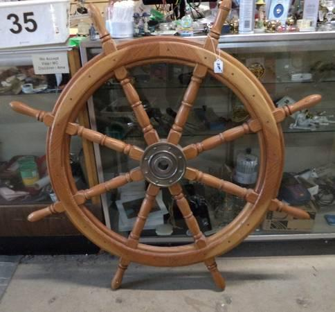 Real Nice 4 Foot Ships Wheel Beautiful Decor Piece For Sale In