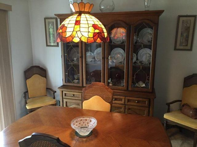 real oak dining room set china cabinet for sale in