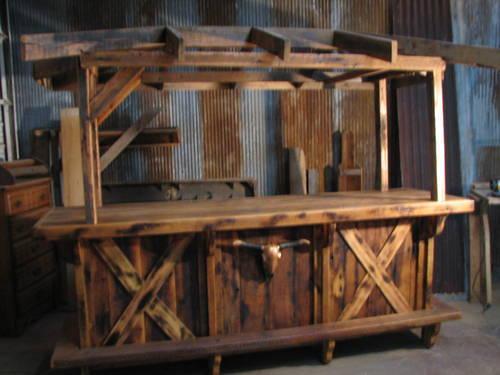 Reclaimed oak barn wood bar for sale in marshfield