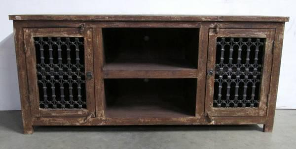 Recycled Wood Rustic Tv Stand From India On Sale For Sale In