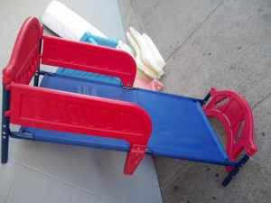 RED Amp BLUE TODDLER BED