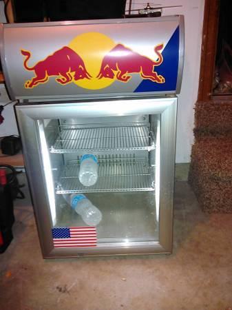 red bull mini fridge - $90
