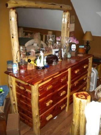 Red Cedar Log King Size Bedroom Set Used Harrisburg For Sale In Harrisburg Pennsylvania
