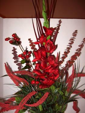 Red Gladiola Silk Flower Arrangement 42 Tall New For Sale In