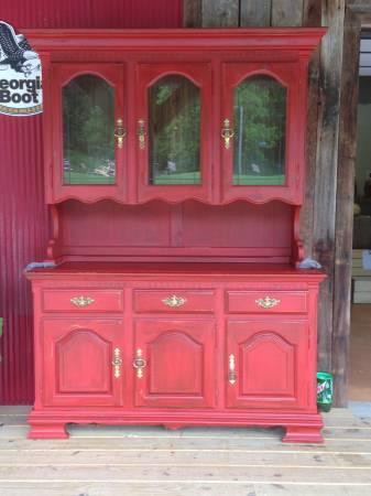 Red Kitchen Hutch   $350