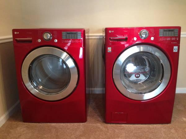 Red Lg 4 0 Cu Ft Front Loader Washer Dryer For Sale In