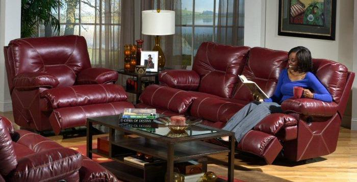 Man Cave Furniture For Sale : Red reclining sofa for your man cave columbus warehouse