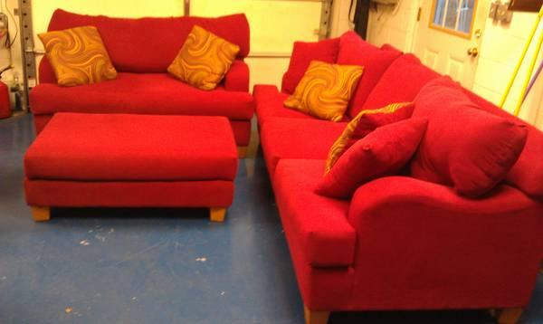 Red Sofa Express Couch Set - for Sale in Blowing Rock, North ...