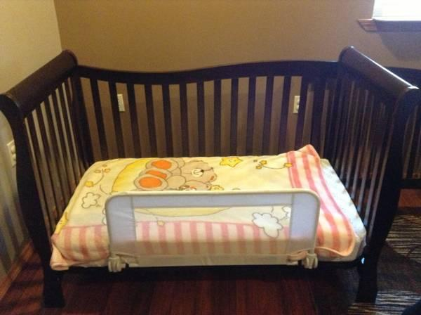 REDUCED 4 in 1 chocolate color crib & mattress for