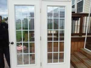 reduced exterior french doors 5 ft great condition