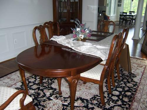 reduced formal dining room set made by lexington for