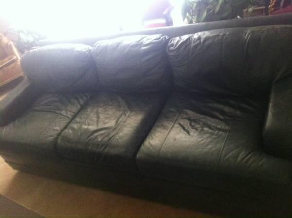 *Reduced* HENREDON LEATHER SOFA   $400