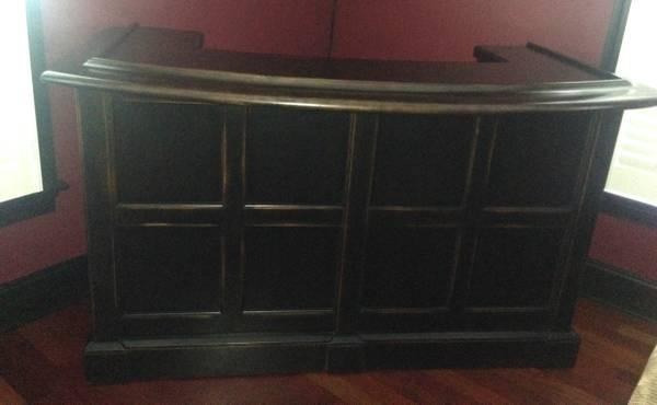 Reduced New Bernhardt High End Bar Cabinet For Sale In