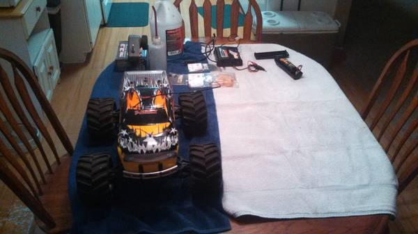 **REDUCED**Traxxus RC Truck Tmax - $175