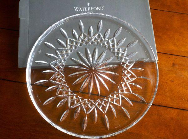 Reduced Waterford Crystal Lismore Cake Plate And