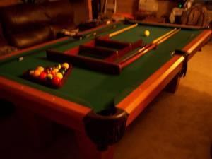 REGULATION POOL TABLE - $500 (E. PINE BLOOMFIELD)