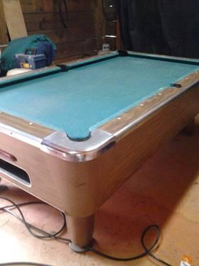 regulation size pool table coin operated for sale in mooresboro