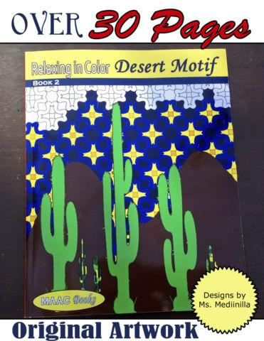 Relax in Color Desert Motif Designs Creative Coloring Book Adult Stres