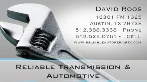 Reliable Transmission Repair - Can Work on Chevy, Ford,