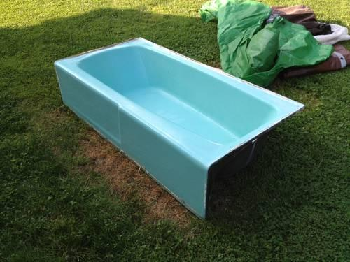 Remodeling? Bathroom toilet and cast iron bathtub and sink for Sale ...
