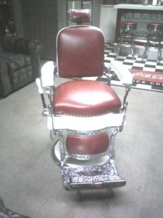 Renewed 1920s Koken Barber Chair