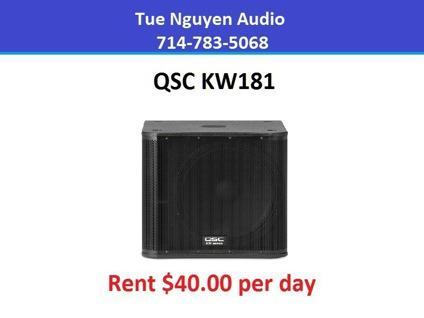 Rent QSC KW181