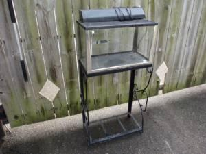 Reptile Cage or Tank W/Screen Lid & Stand - $40