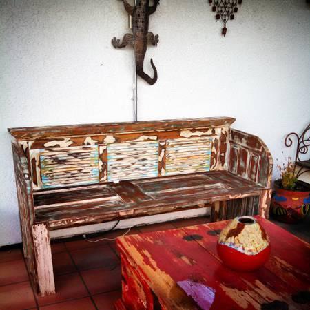 repurposed wood bench - $350