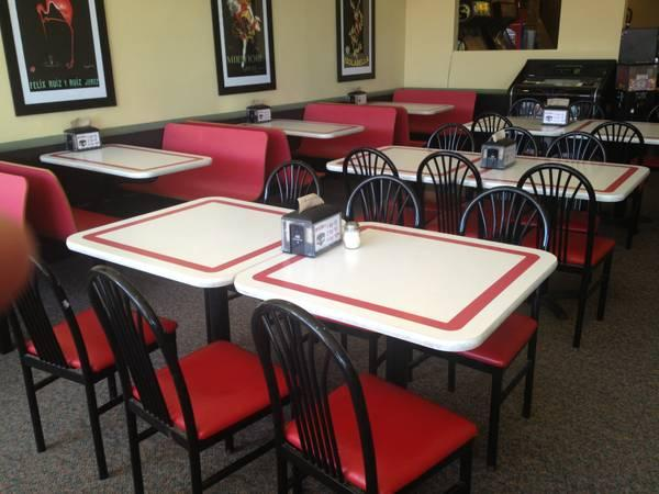 Restaurant tables chairs booths seating for sale