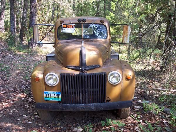 Restorable 1947 Ford 1-12 Ton Truck trade for boat - $2000