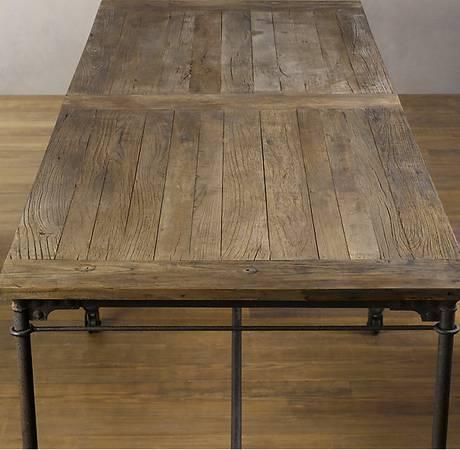 Restoration hardware flatiron dining tables for sale for for Dining room tables at restoration hardware