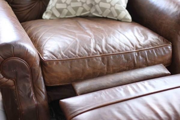 Restoration Hardware Leather Recliner For Sale In