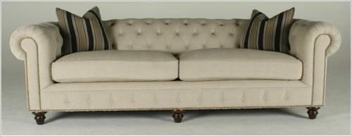Restoration Hardware Quot Style Quot Tufted Linen Sofa Retails