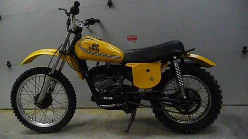 restored 1975 yamaha yz80 dirt bike 1975 yamaha. Black Bedroom Furniture Sets. Home Design Ideas
