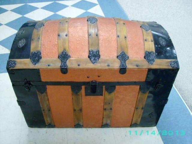 Restored Victorian style domed steamer trunk