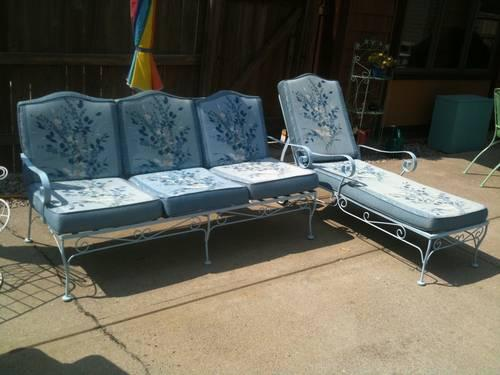 @@@@retro- vintage/wrought iron couch & chaise