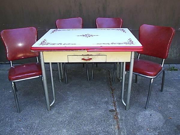 Retro 1950 S 1960 S Antique 5 Piece Kitchen Dinette Set