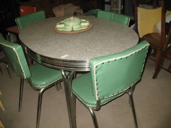 retro 1950 39 s chrome kitchen dinette set for sale in. Black Bedroom Furniture Sets. Home Design Ideas