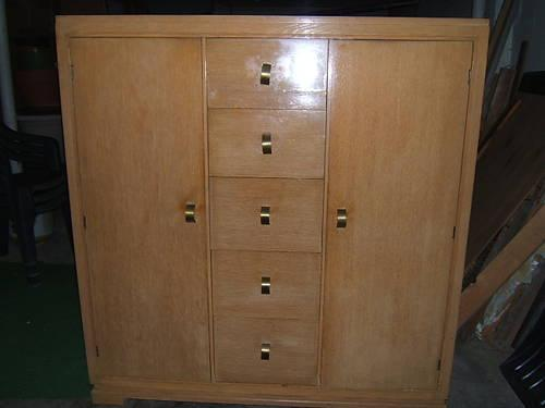 Retro 1950 S Rare Cedar Amp Laminate Outside Decor Wardrobe
