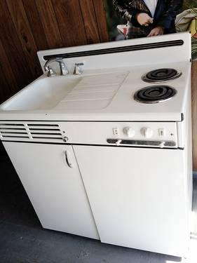 Retro Vintage Dwyer Compact Kitchen Stove Sink Fridge All
