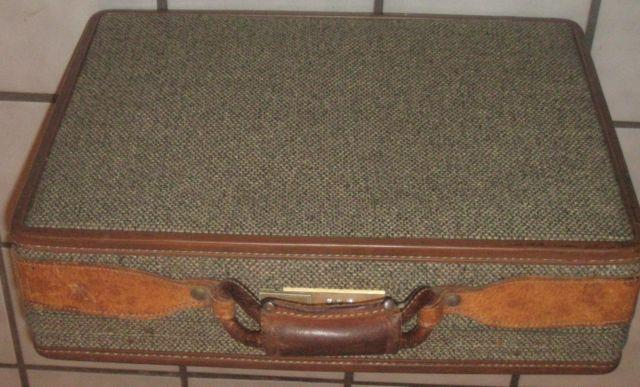 retro vintage hartmann tweed briefcase attache for
