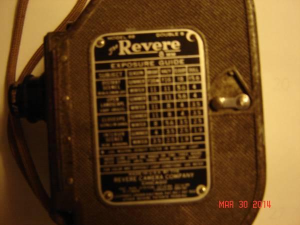 REVERE Double 8 Camera - $49